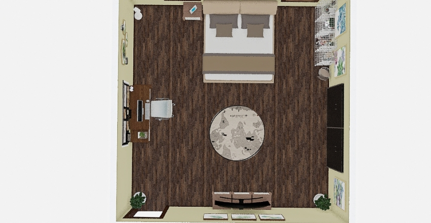 BedroomTheme1 Interior Design Render