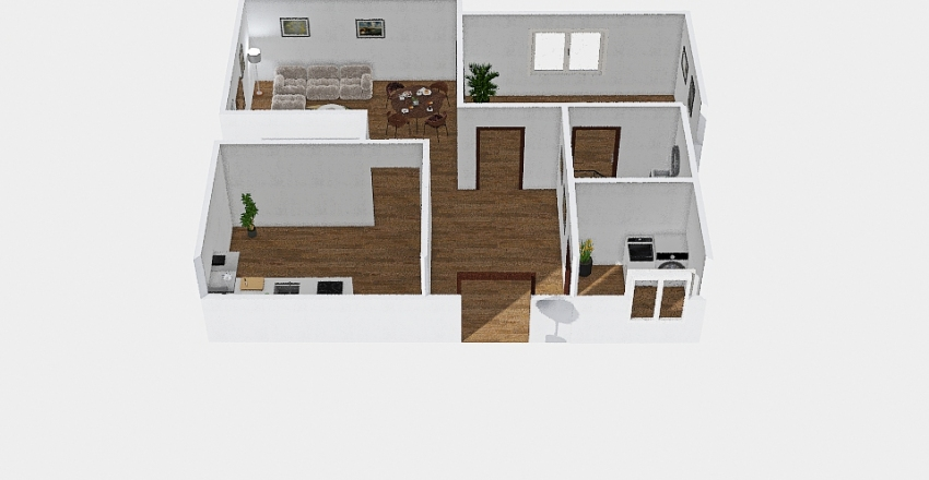 House for (2 persons) Interior Design Render