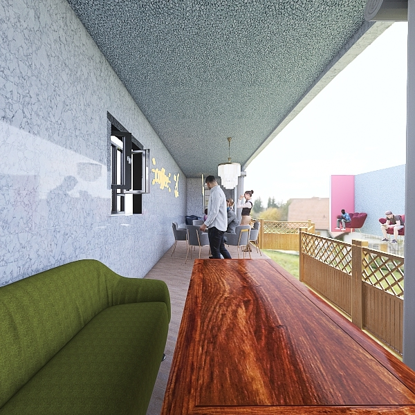 Outdoor Eating Area Project Interior Design Render