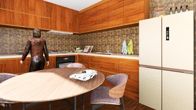 UNE CUISINE SYMPA Interior Design Render