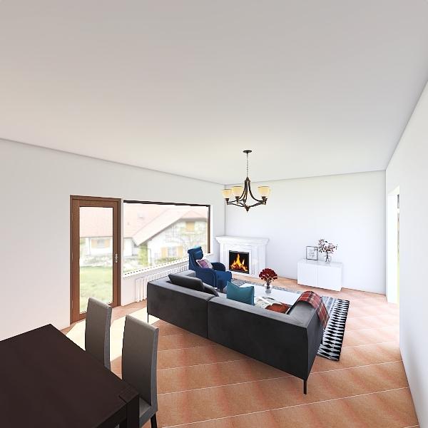 Home staging - living room Interior Design Render