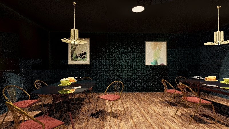 chinese bar and grill Interior Design Render