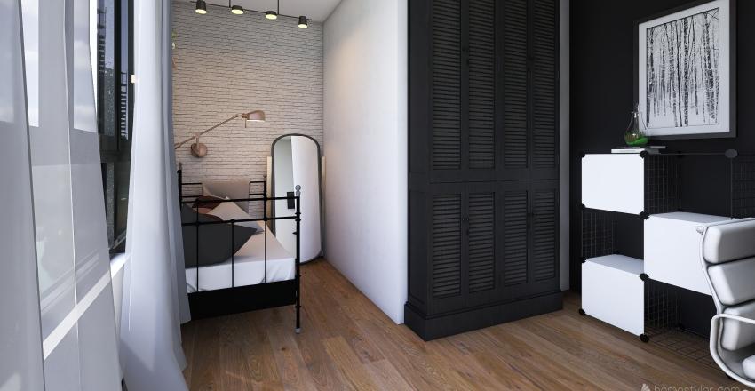 Cauler Single Room Interior Design Render
