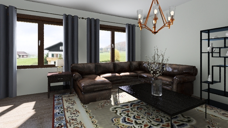 ch12 - family room Interior Design Render