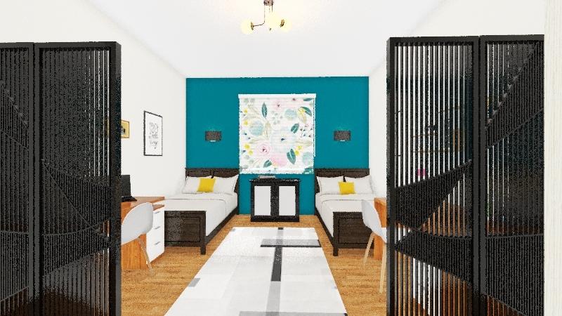double room dorms Interior Design Render