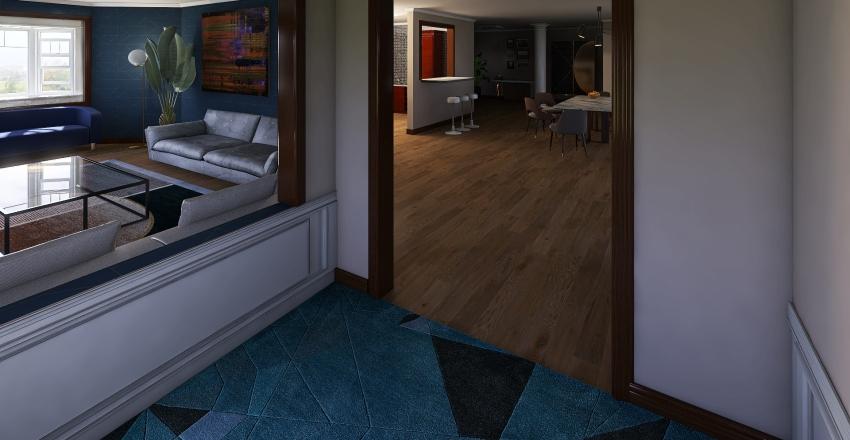 One Story Modern Interior Design Render